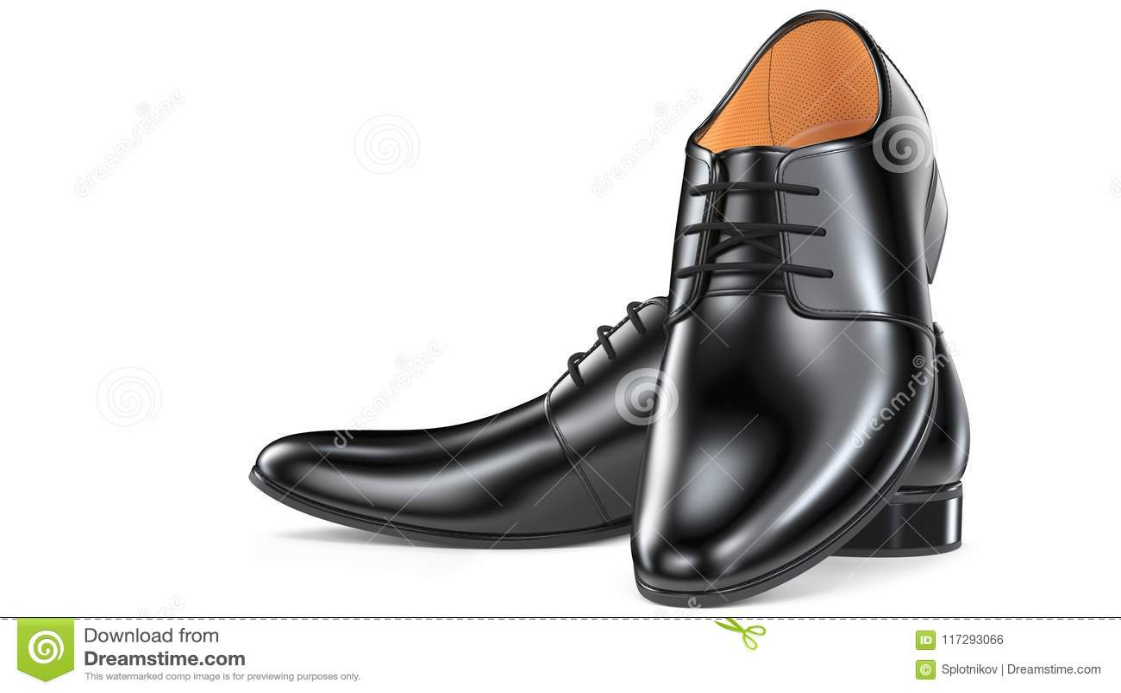 Para moda murzynów ` s eleganccy buty 3d odpłacają się rzemienni męscy buty odizolowywający na białym tle dla