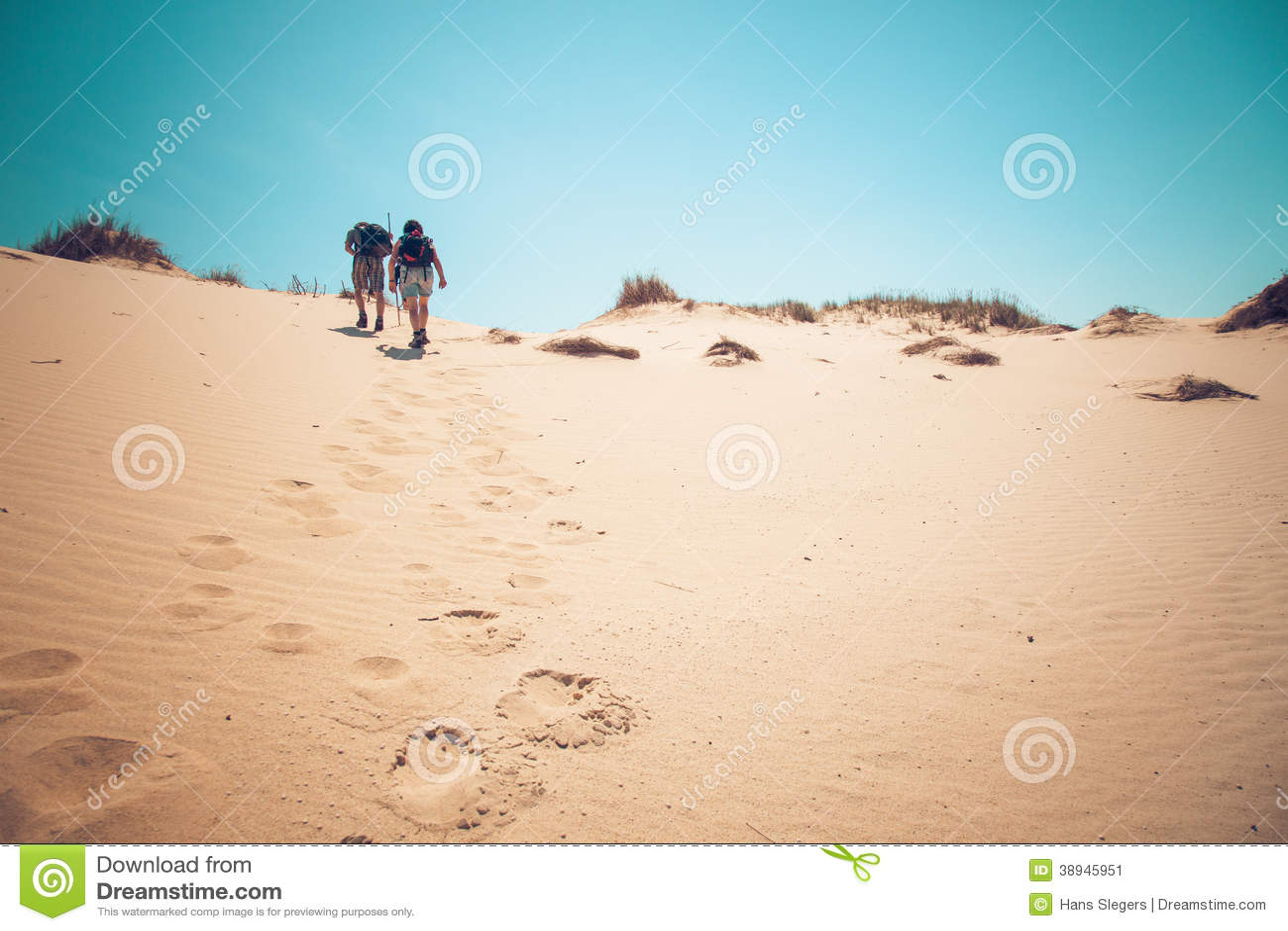 Para piaska wspinaczkowe diuny