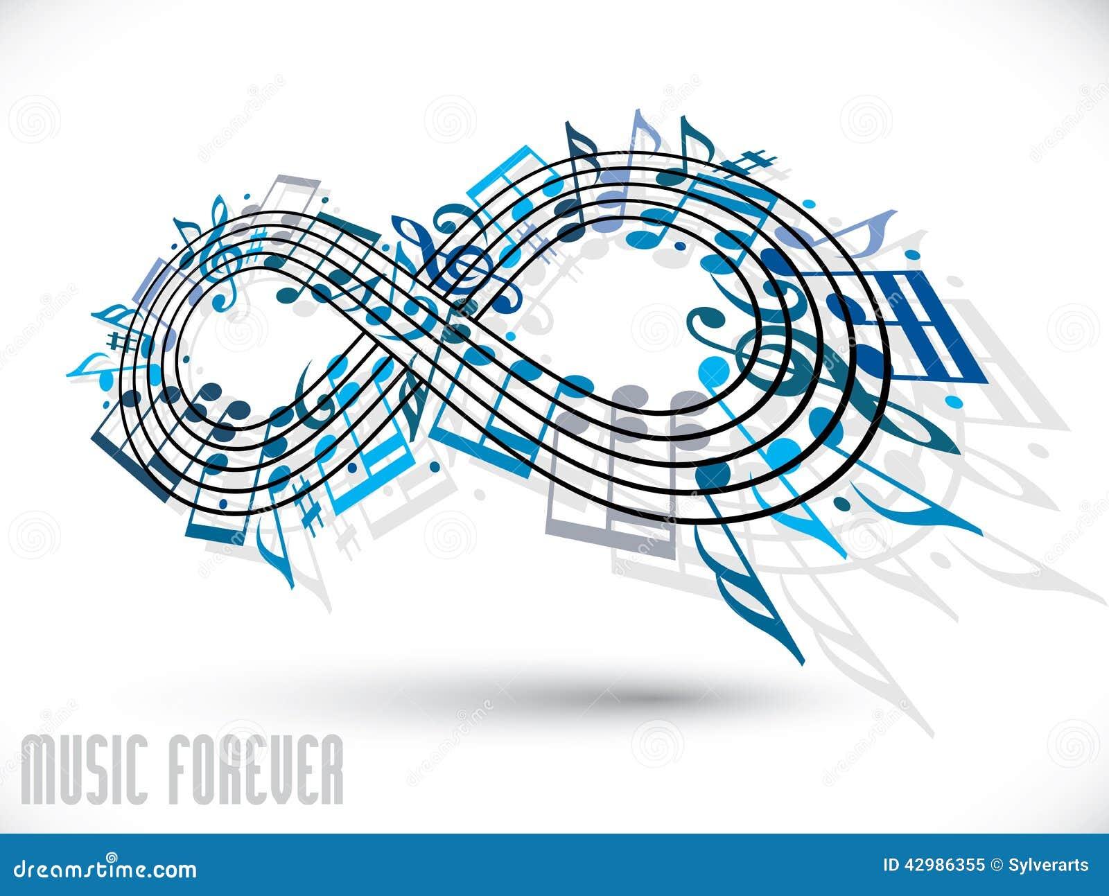 Para sempre o conceito da msica smbolo da infinidade fez com para sempre o conceito da msica smbolo da infinidade fez com notas musicais a ccuart Images