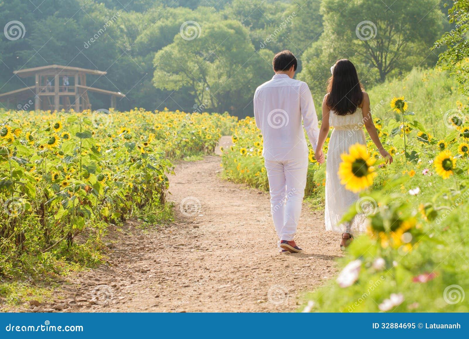Para w słonecznika polu
