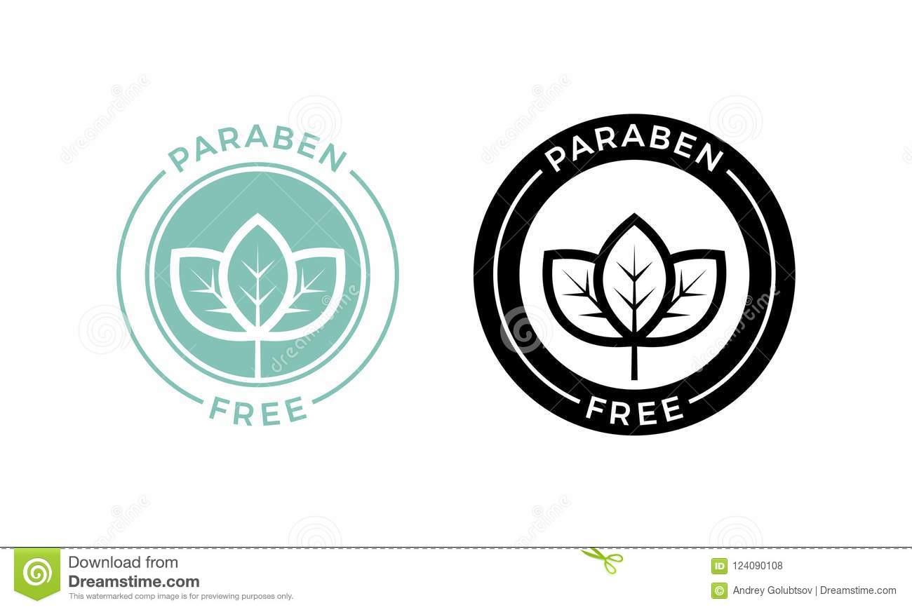 Paraben Free Leaf Icon Cosmetic Vector Label Stock Vector
