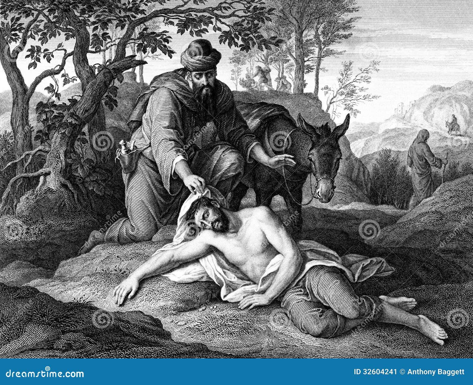 parable of the good samaritan stock image image 32604241