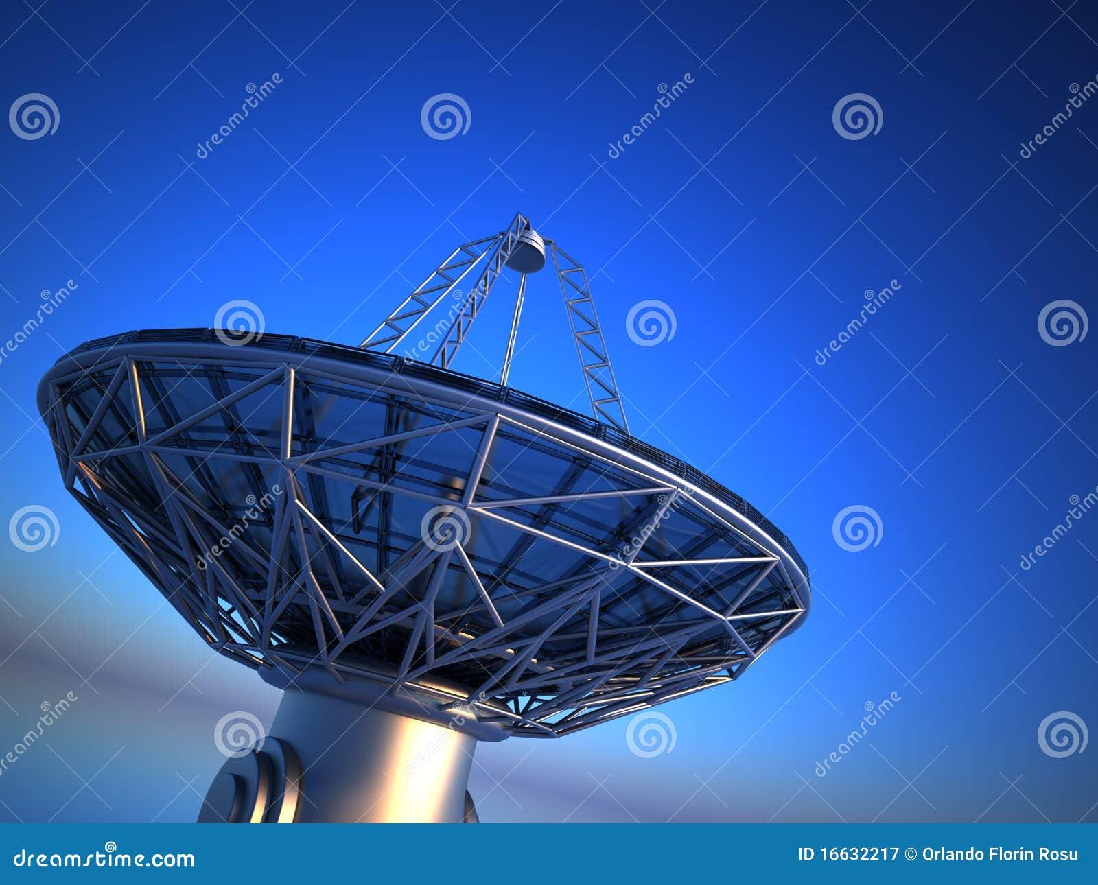 Parabolic Antenna Radio Telescope Royalty Free Stock