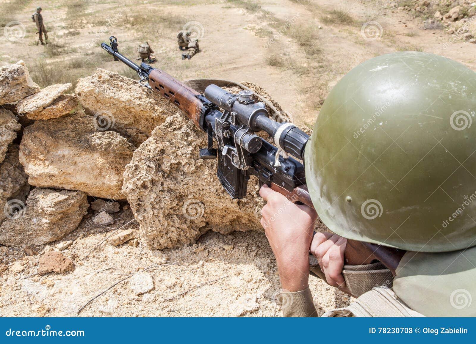 Paracaidista soviético en Afganistán