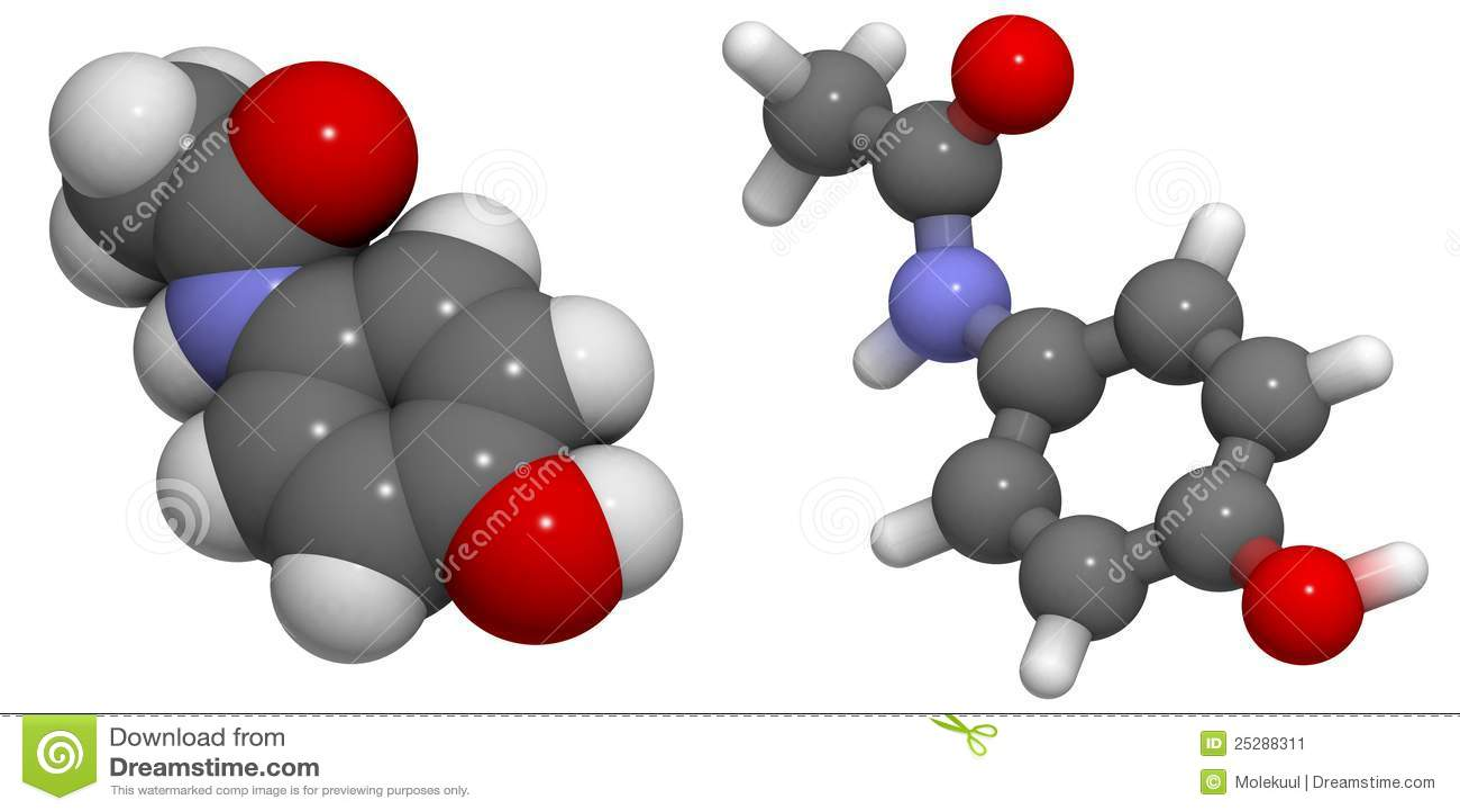 Stock Illustration of Paracetamol molecule u88309906 - Search Clip ...