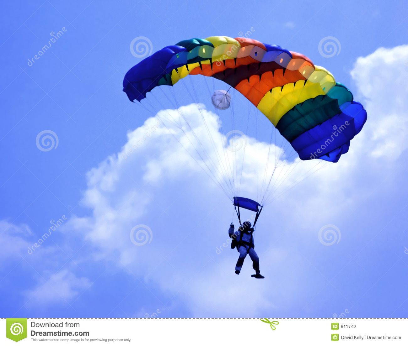 Parachute Stock Photography Image 611742
