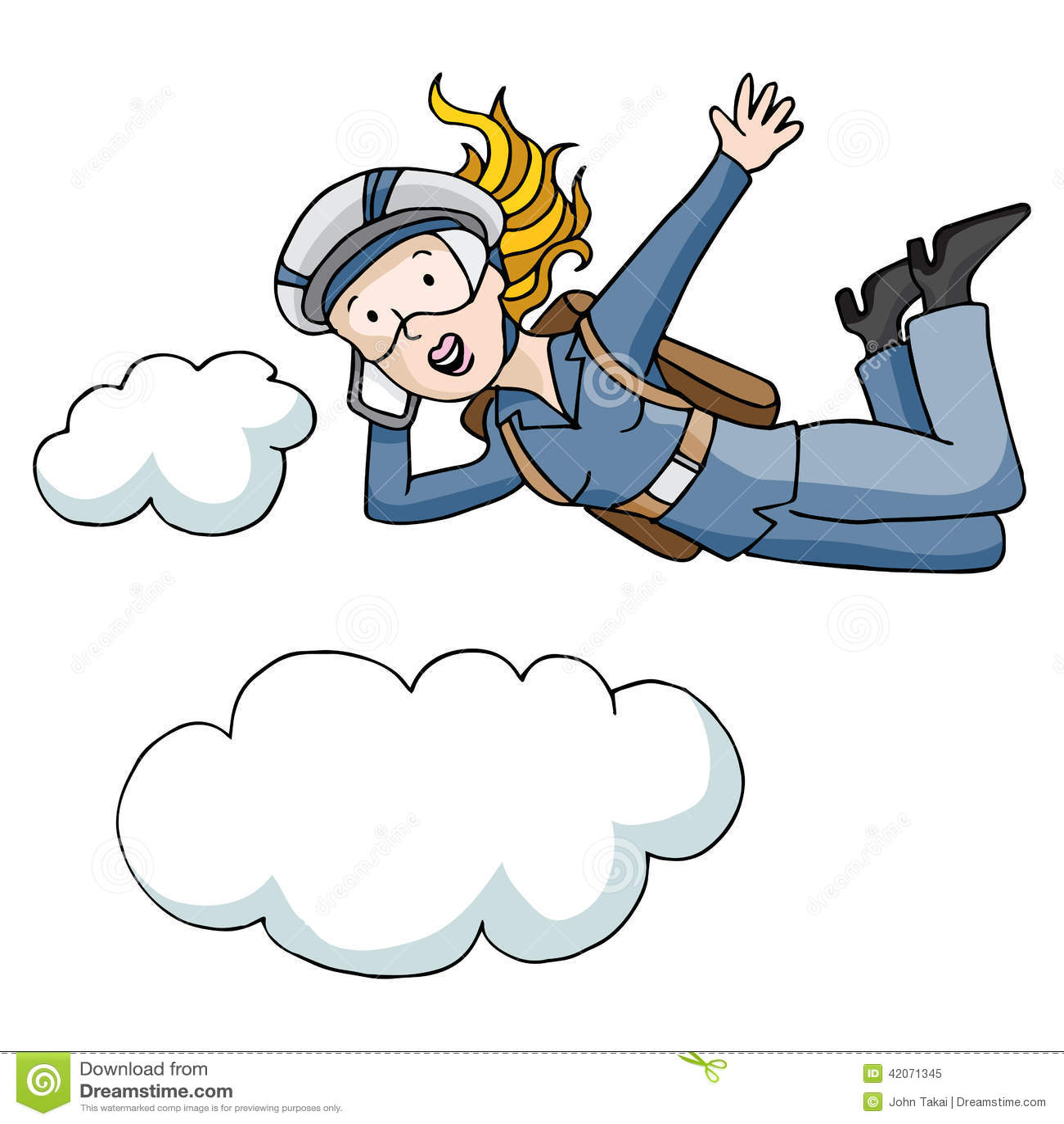 Parachute business woman stock vector illustration of - Dessin parachutiste ...