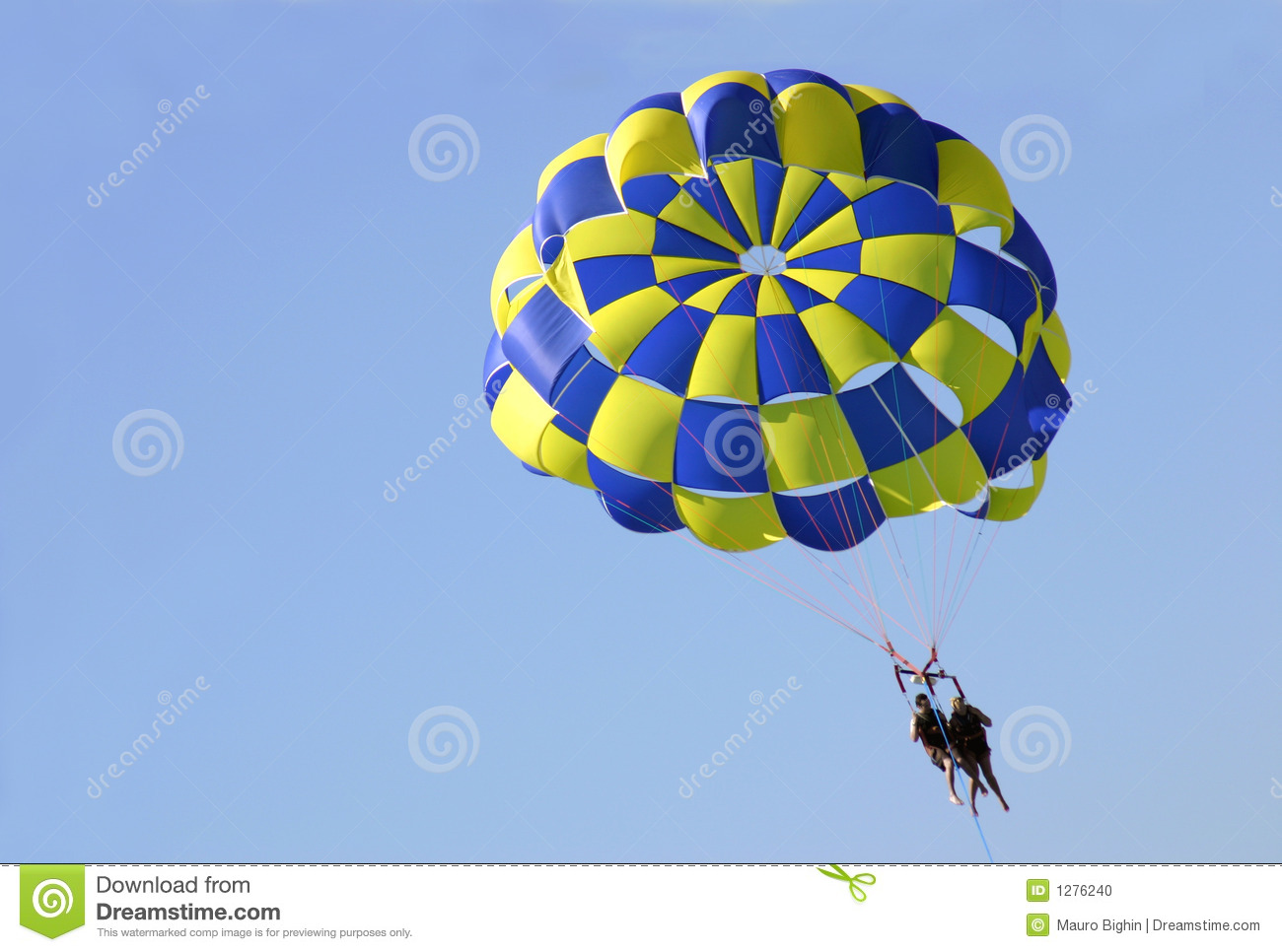 Water parachuting on the Blue Coast in France.