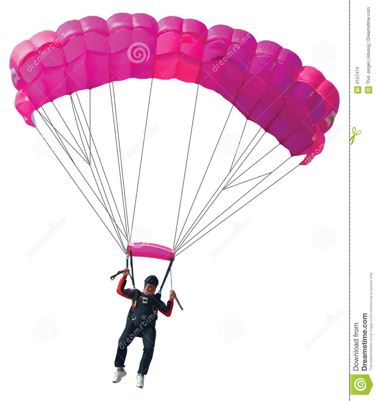 Parachutist With Pink Parachute Stock Images - Image: 4157474