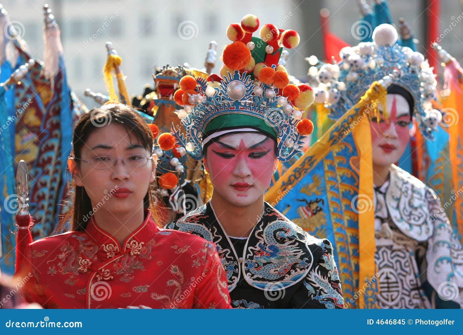 Parada chinesa do ano novo, em Paris, France