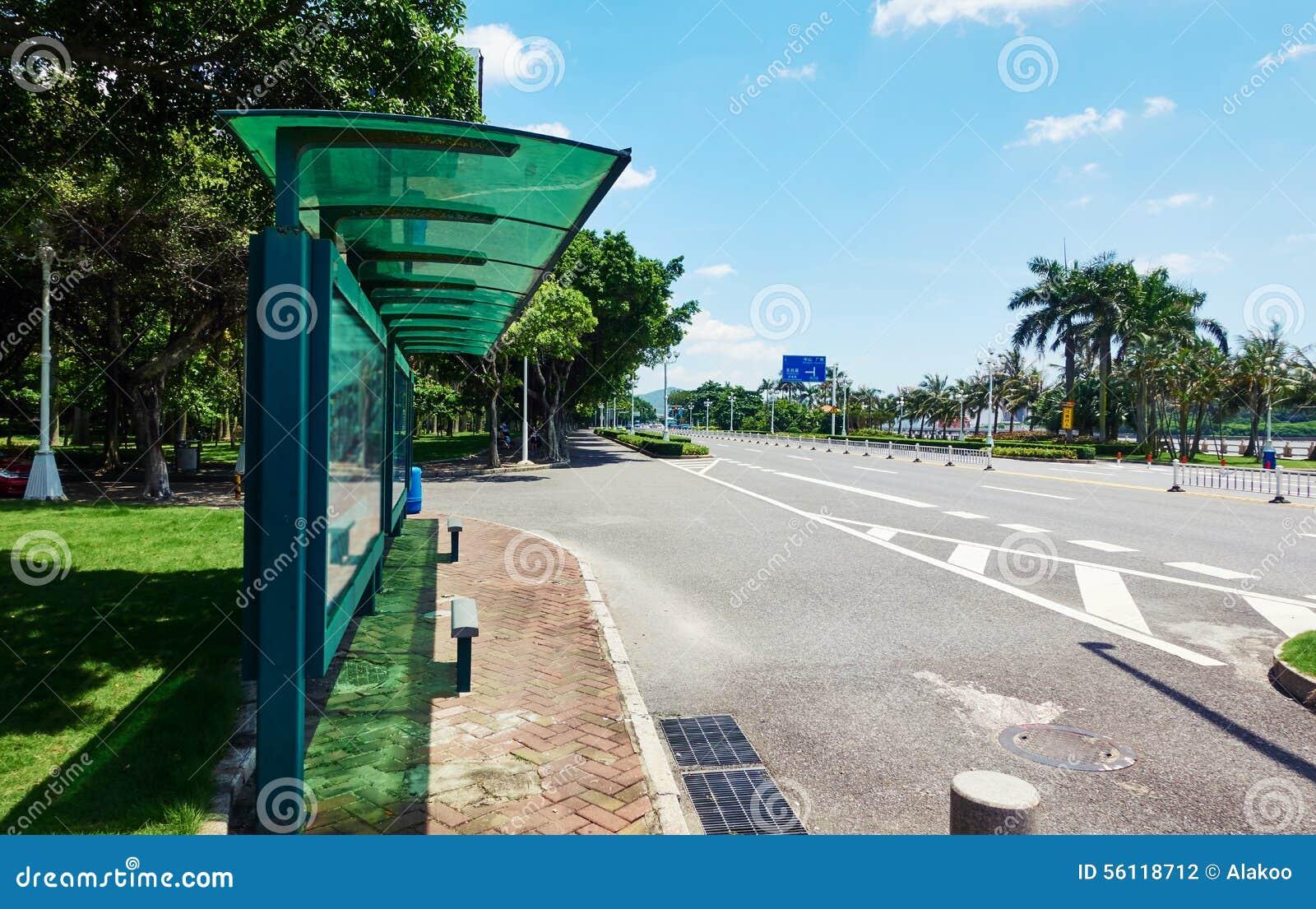 Parada de autobús de la ciudad