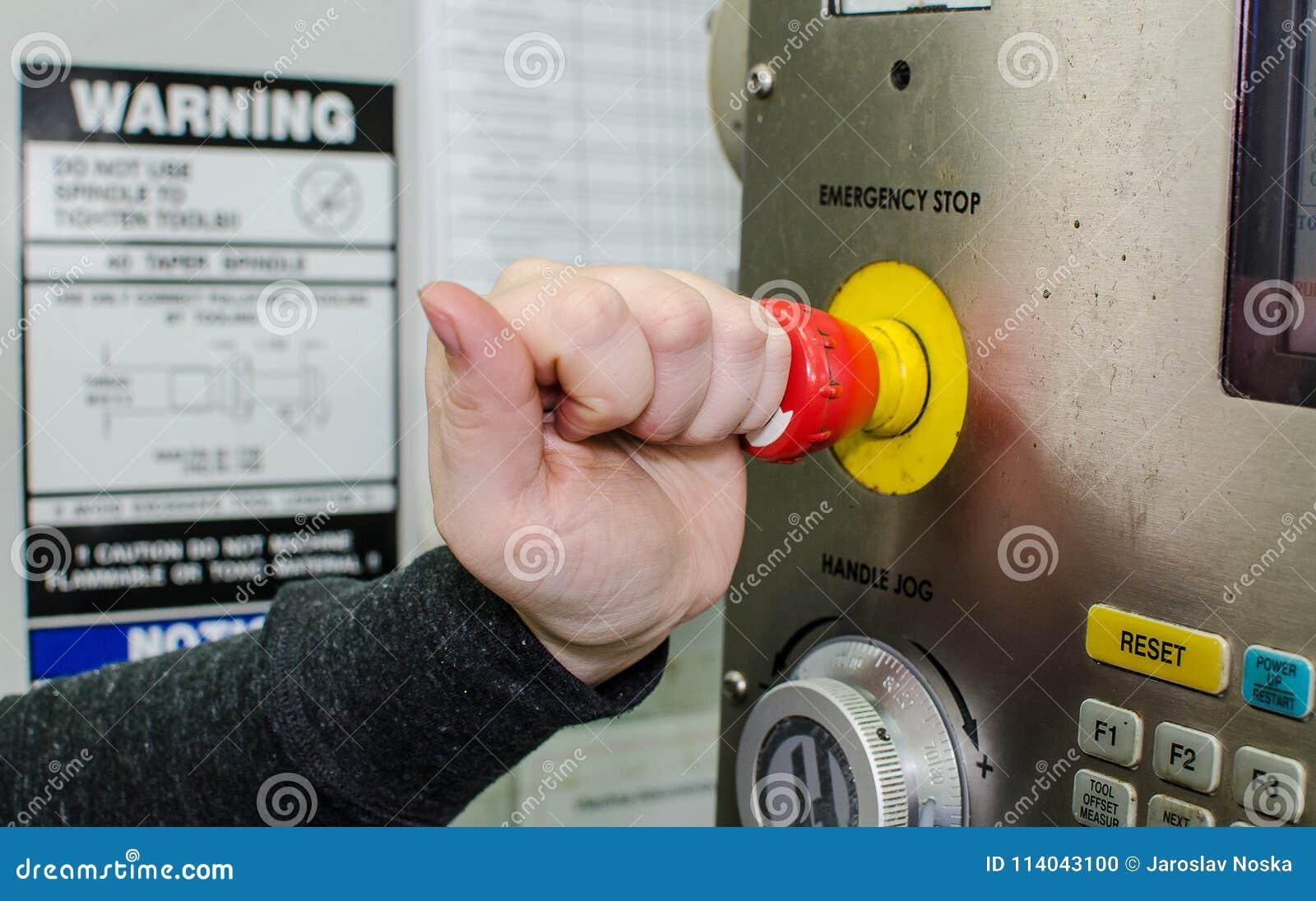 Parada de emergencia del botón