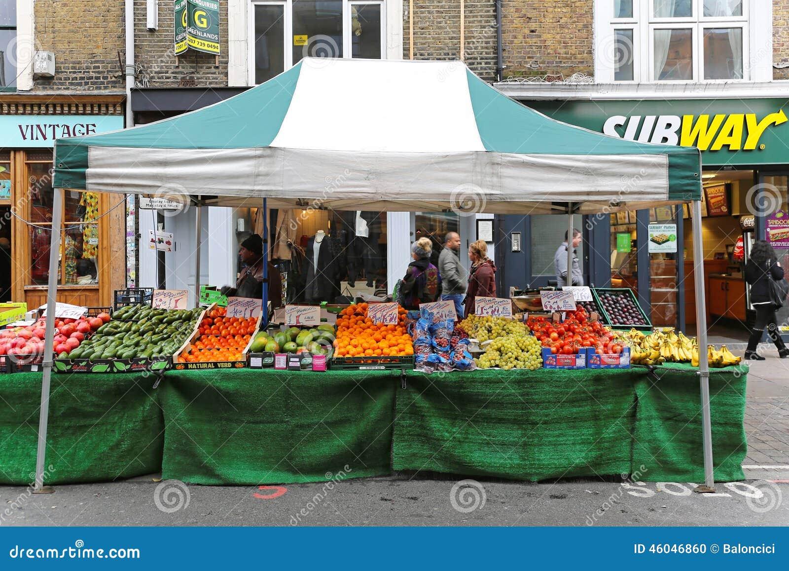 Parada del mercado callejero