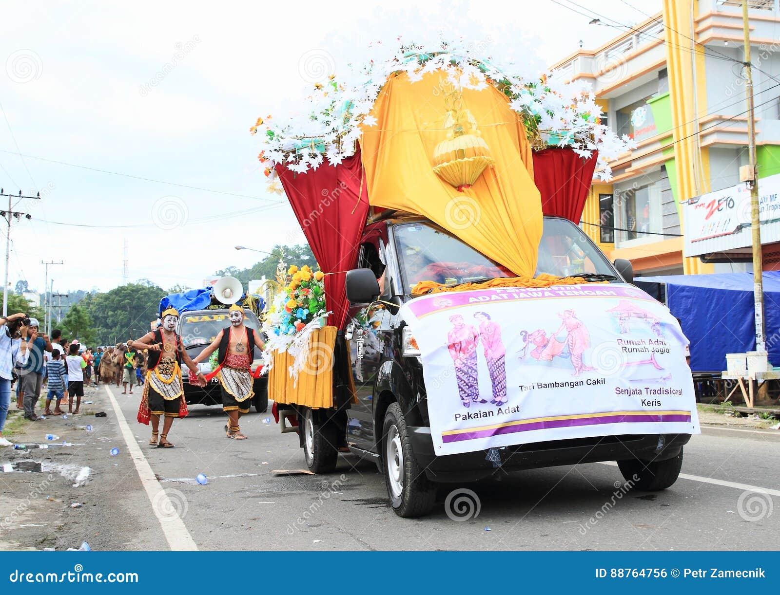 Parade Float From Jawa Tengah Editorial Photo Image Of Decoration