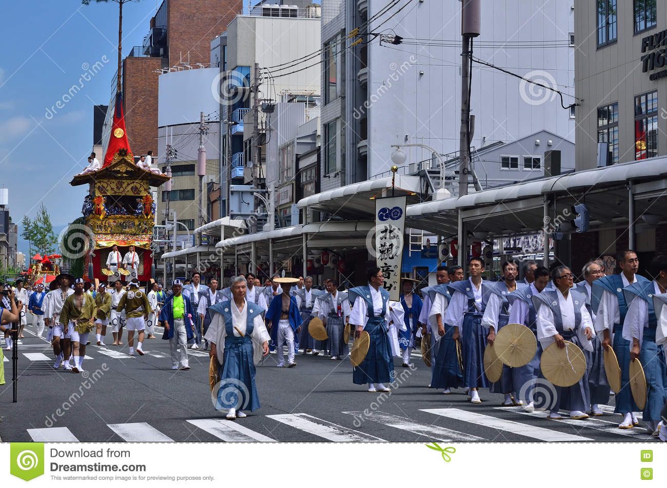 Parade of Gion festival, Kyoto Japan in summer.