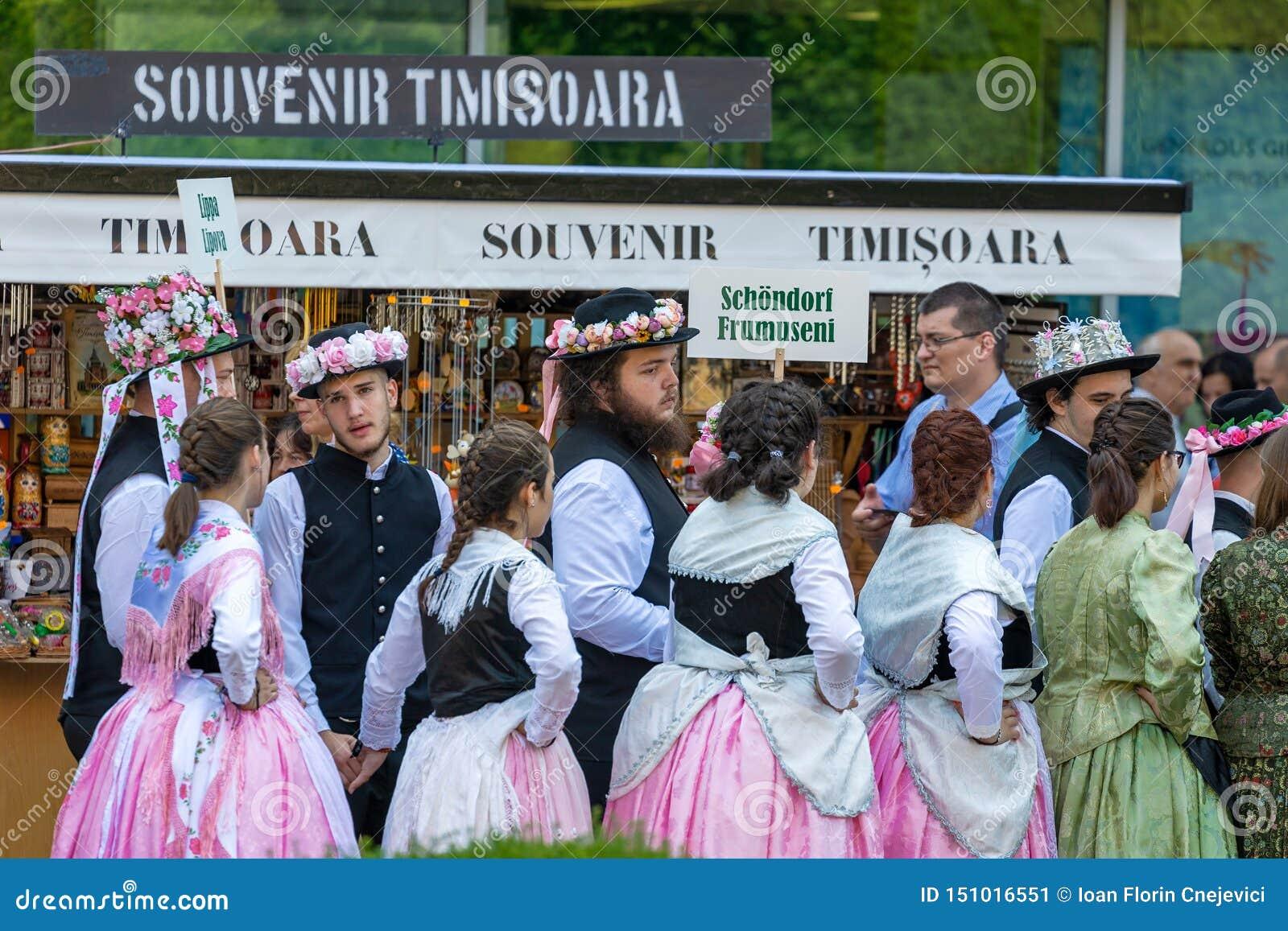 Parade of the Swabian folk costumes