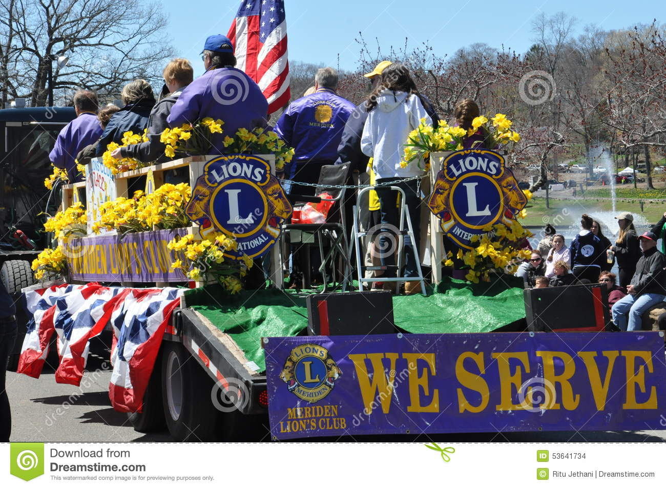 Parade At The 37th Annual Daffodil Festival In Meriden