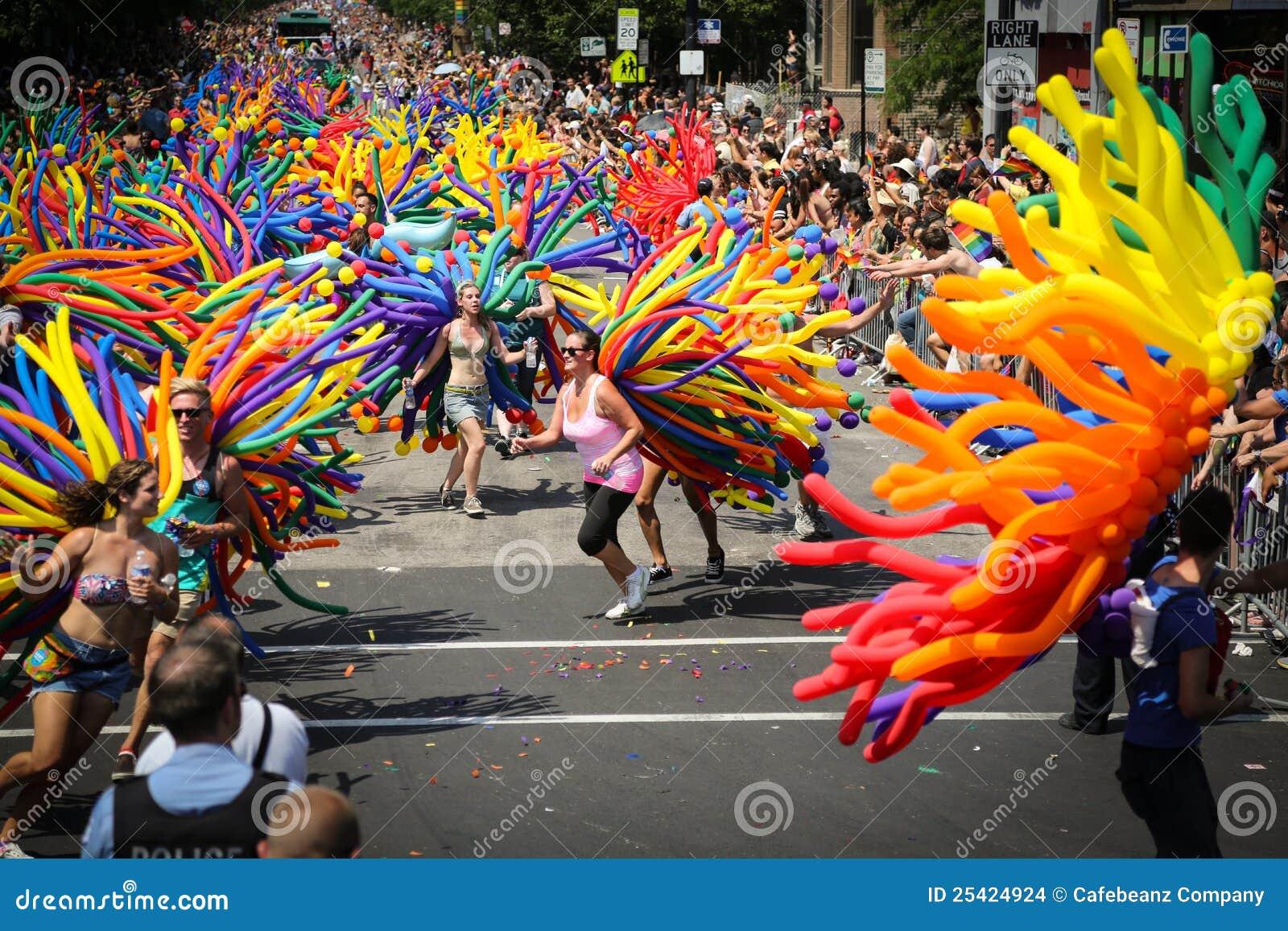 Parade van de Trots van Chicago de Vrolijke