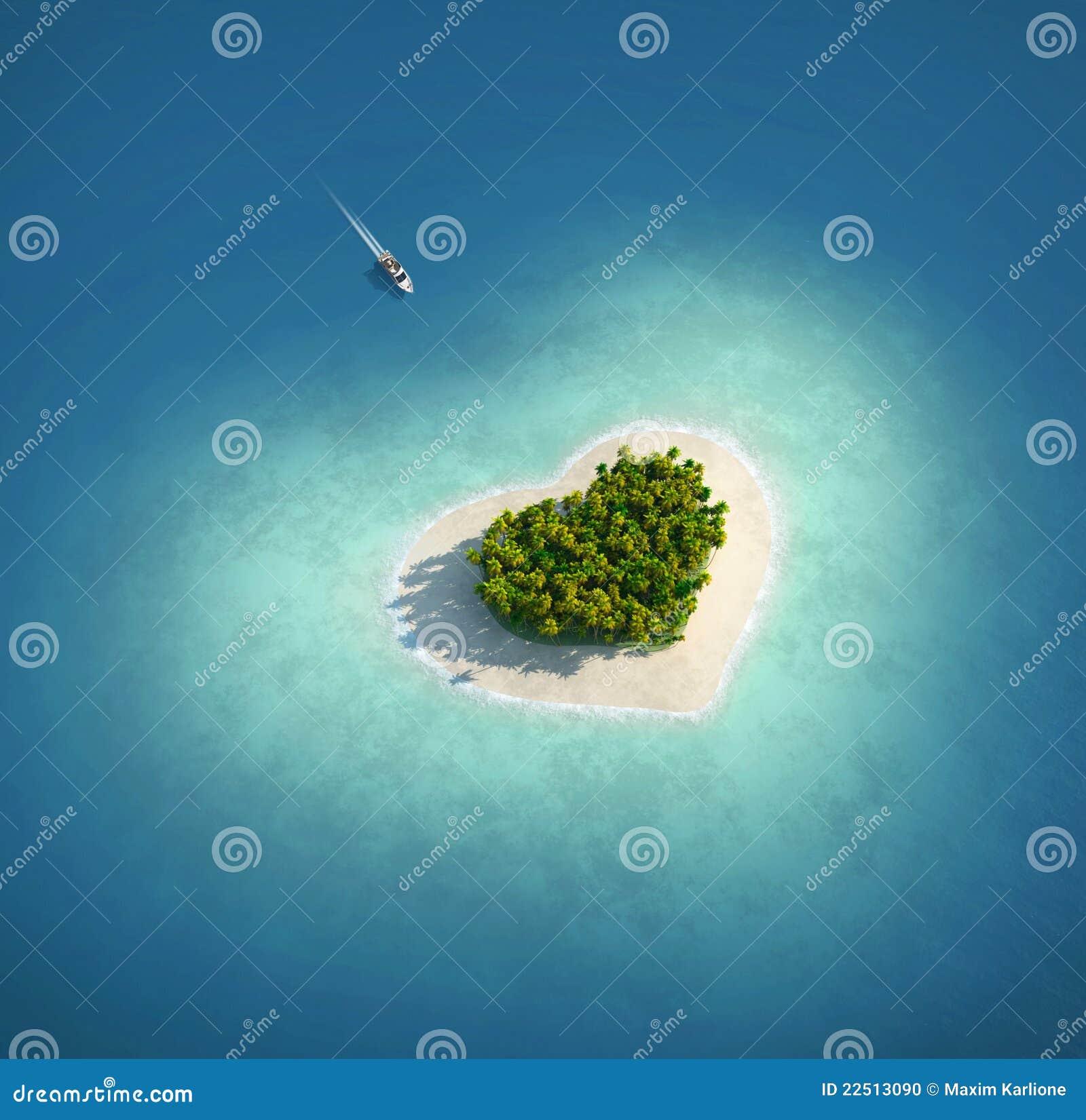 Paradies-Insel in Form von Innerem