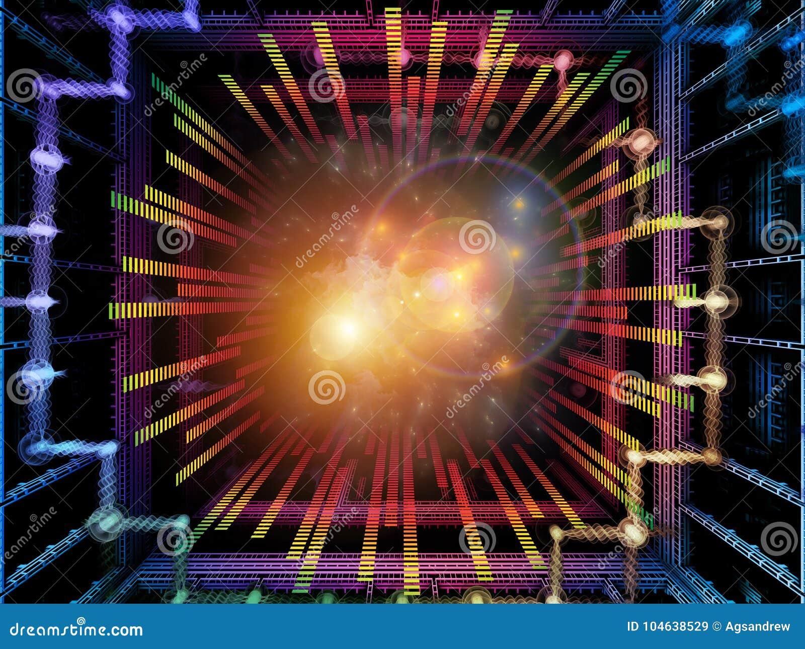 Download Paradigma Van Quantumruimte Stock Illustratie - Illustratie bestaande uit cyberspace, informatie: 104638529