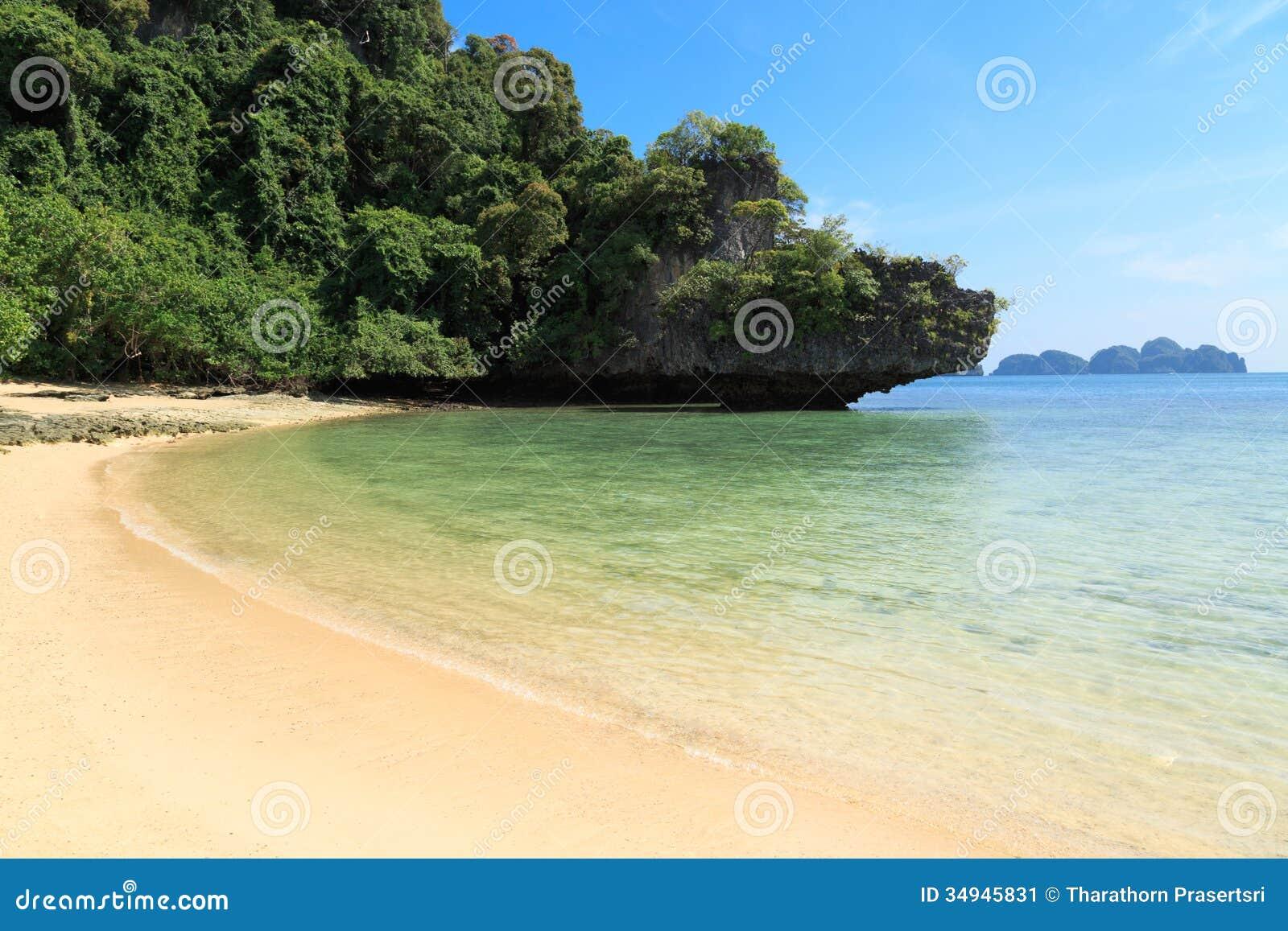 Paradis tropical d île, Koh Pakbia, Krabi, Thaïlande