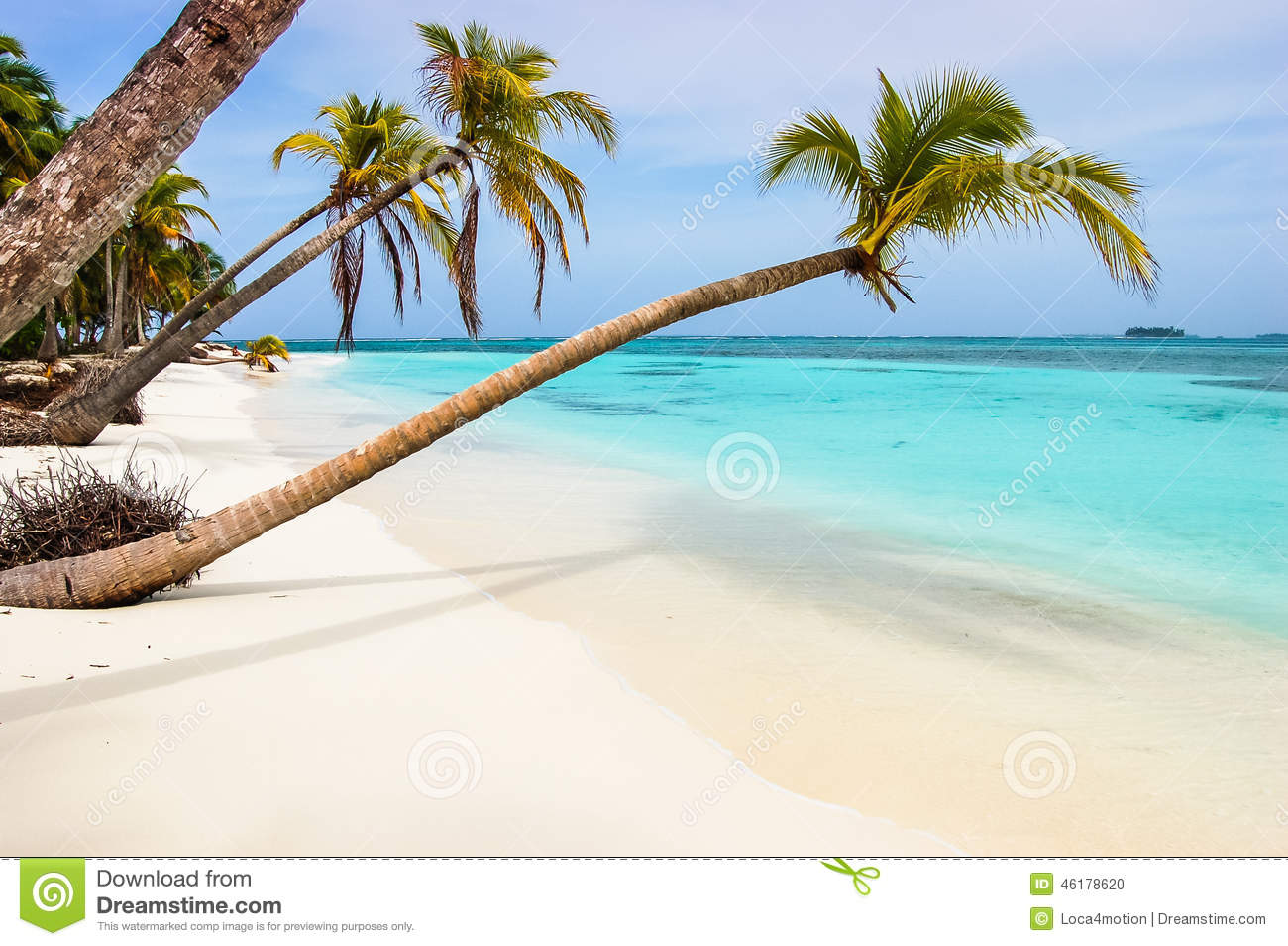Explore The Beauty Of Caribbean: Paradise Beach On Caribbean Island Stock Photo