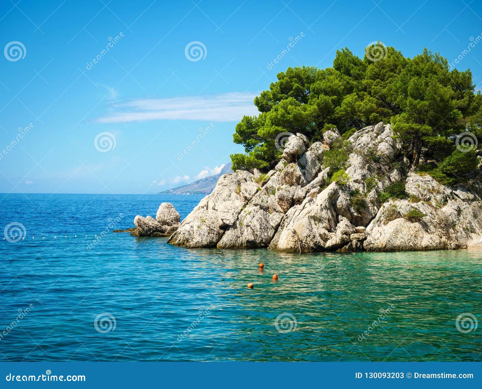 Paradise beach in Croatia, Brela, Dalmatia