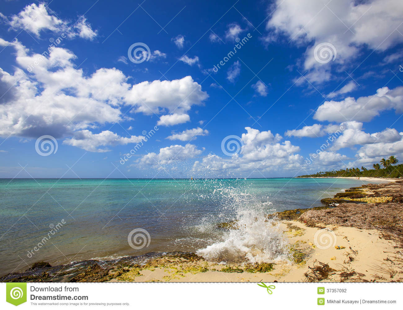 Explore The Beauty Of Caribbean: Paradise Beach Stock Photography