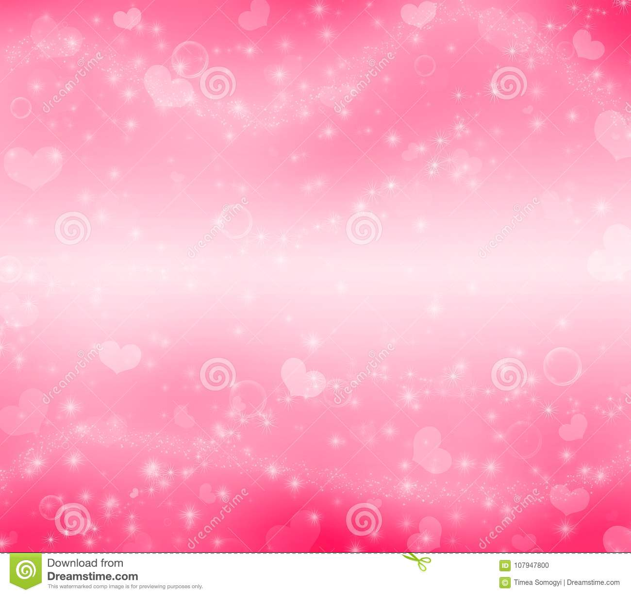 Paradise pink Valentine`s Day magic background.
