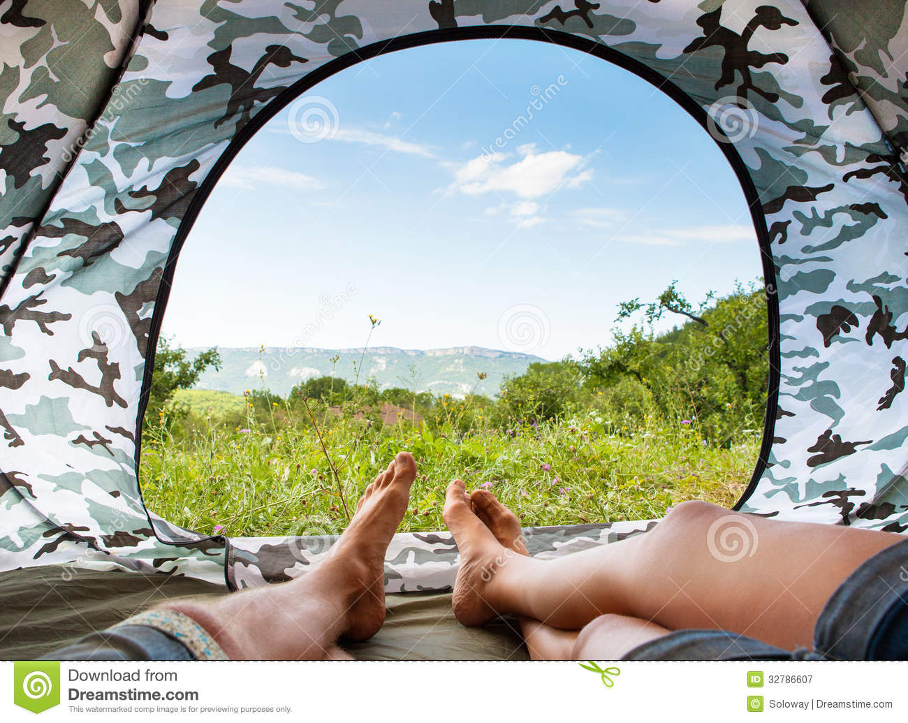 Royalty-Free Stock Photo & Paradise in tent stock image. Image of landscape couple - 32786607
