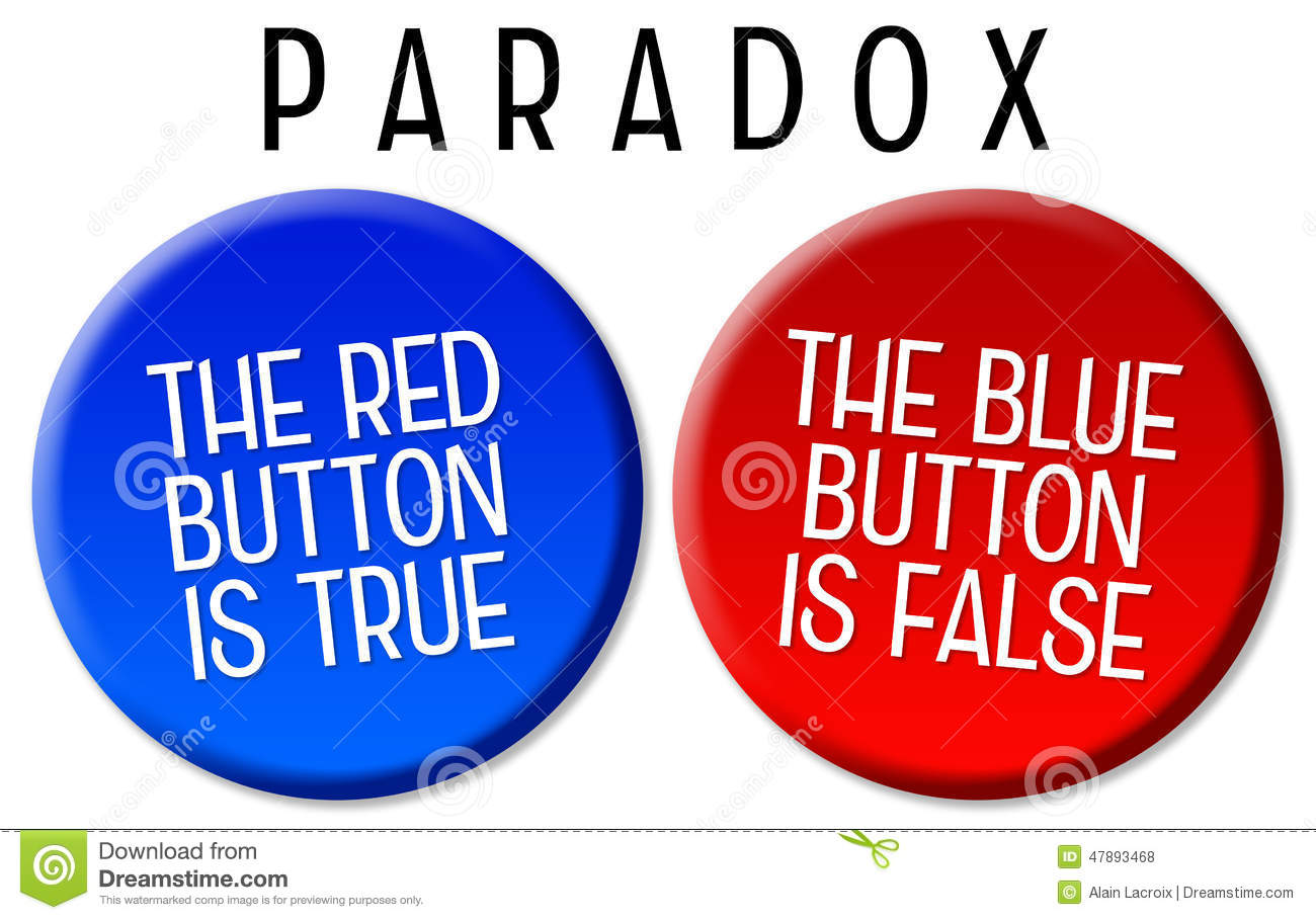 Paradox stock illustration. Image of false, implication ...