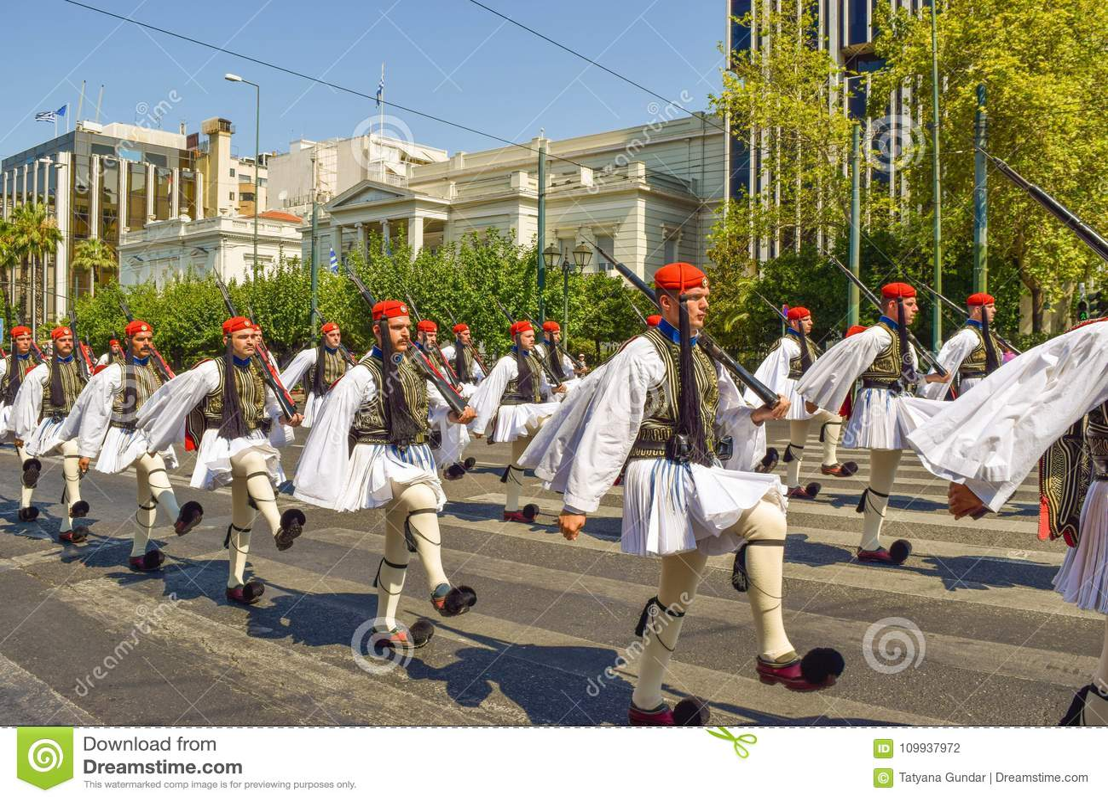 Parady odmienianie strażnik w Ateny