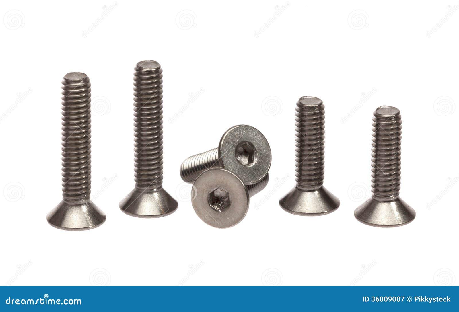 Parafusos de aço inoxidável