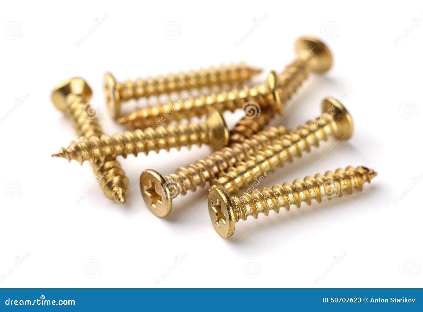 Parafusos dourados