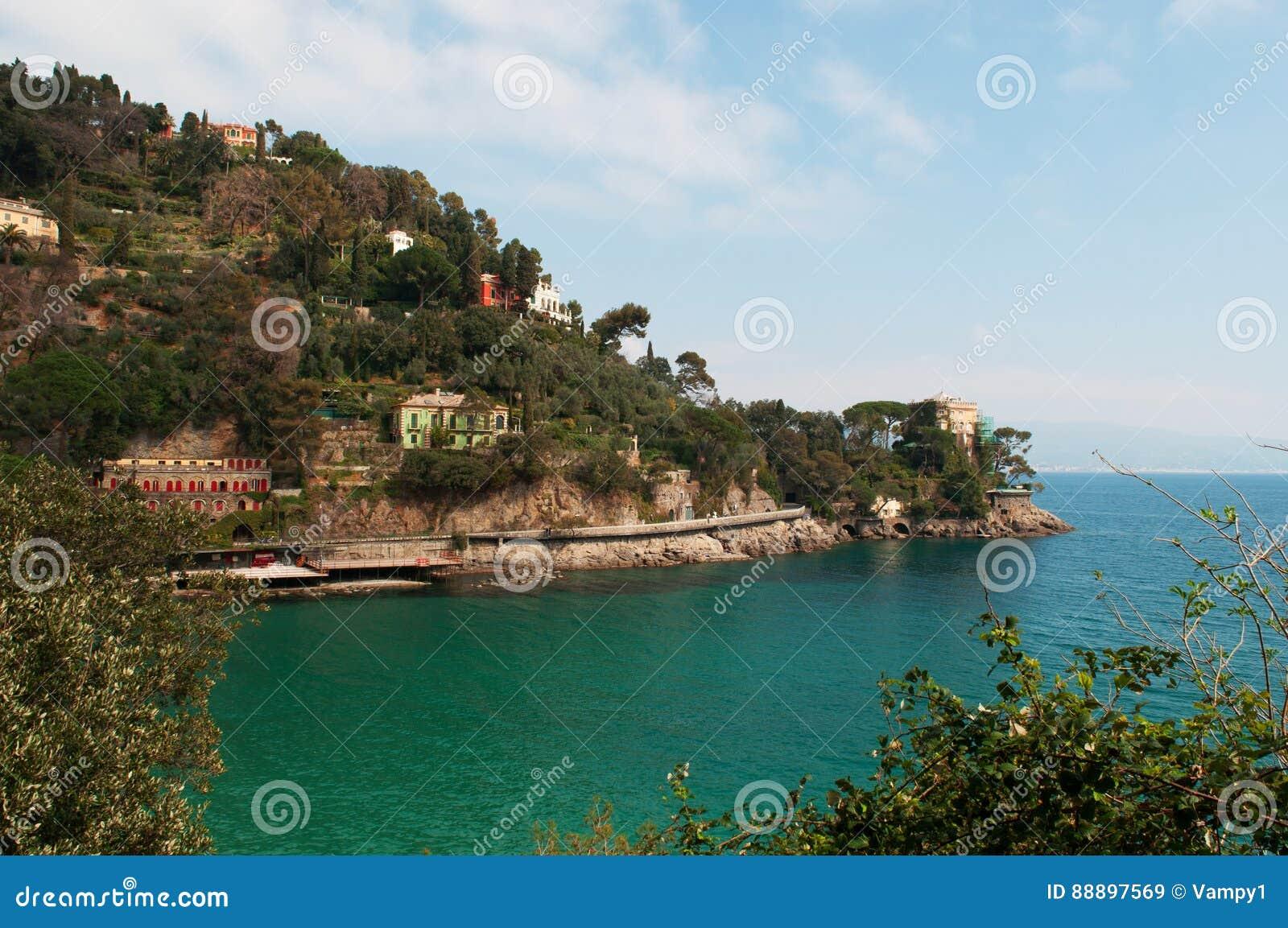 Paraggi,热那亚,利古里亚,意大利,意大利语里维埃拉,欧洲