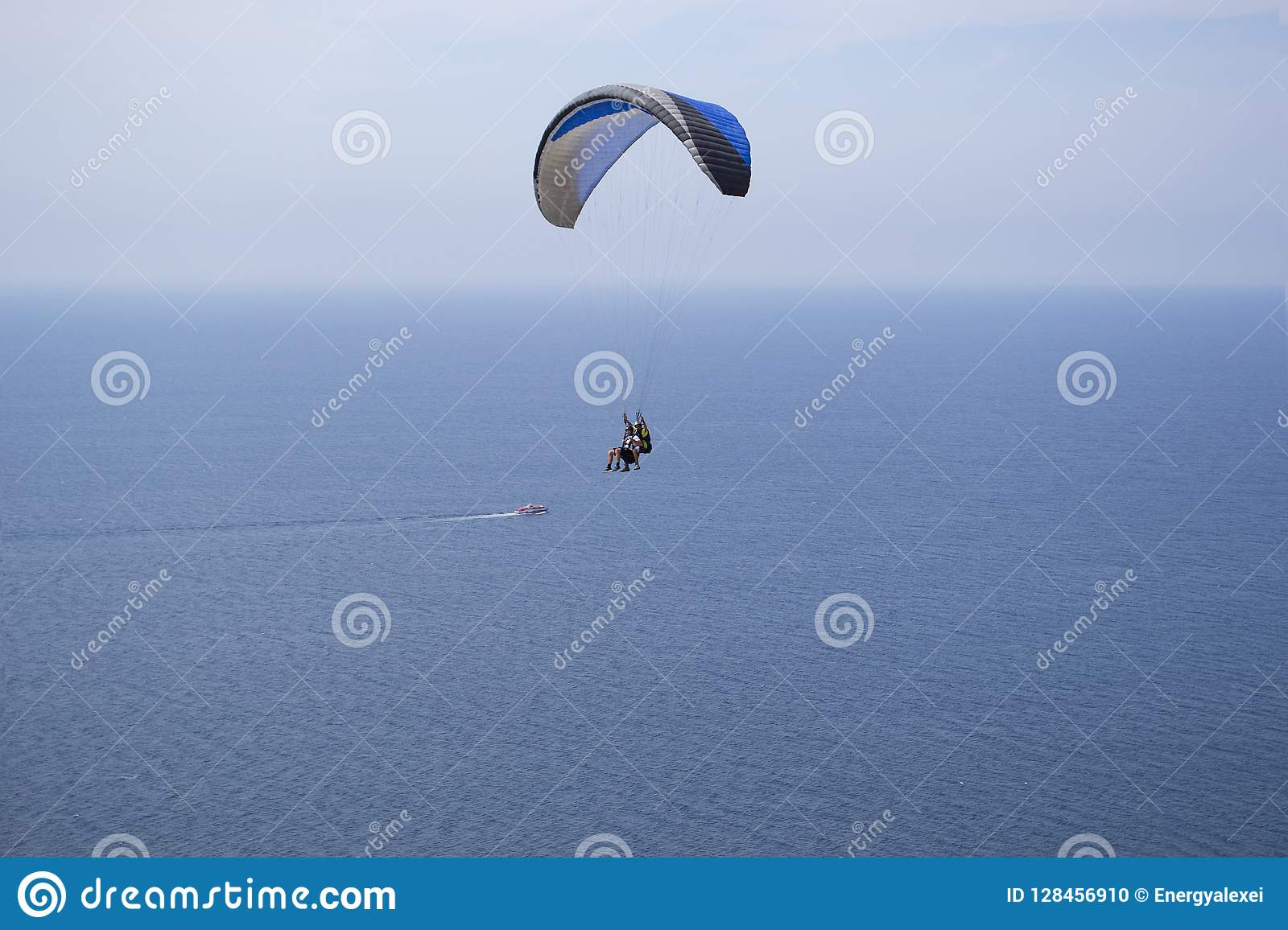 Paraglider, Sea, Sky, Pilot, Gliding Stock Photo - Image of leisure