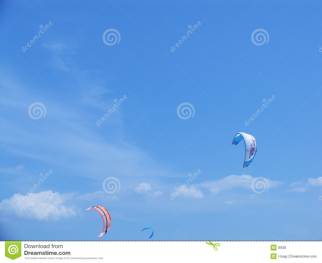 Paragliders via surfing