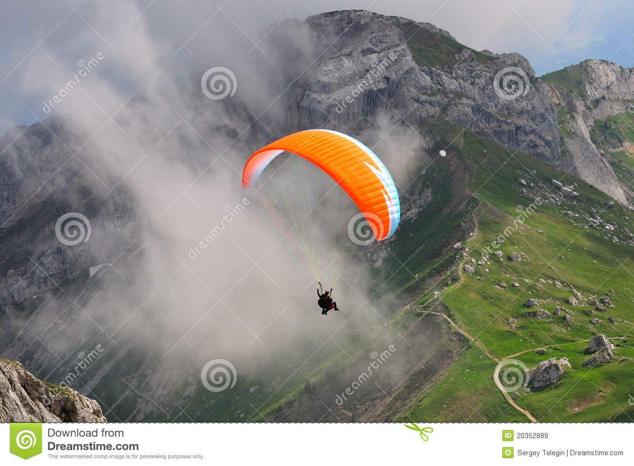 Paragliding at Pilatus mountain, Switzerland