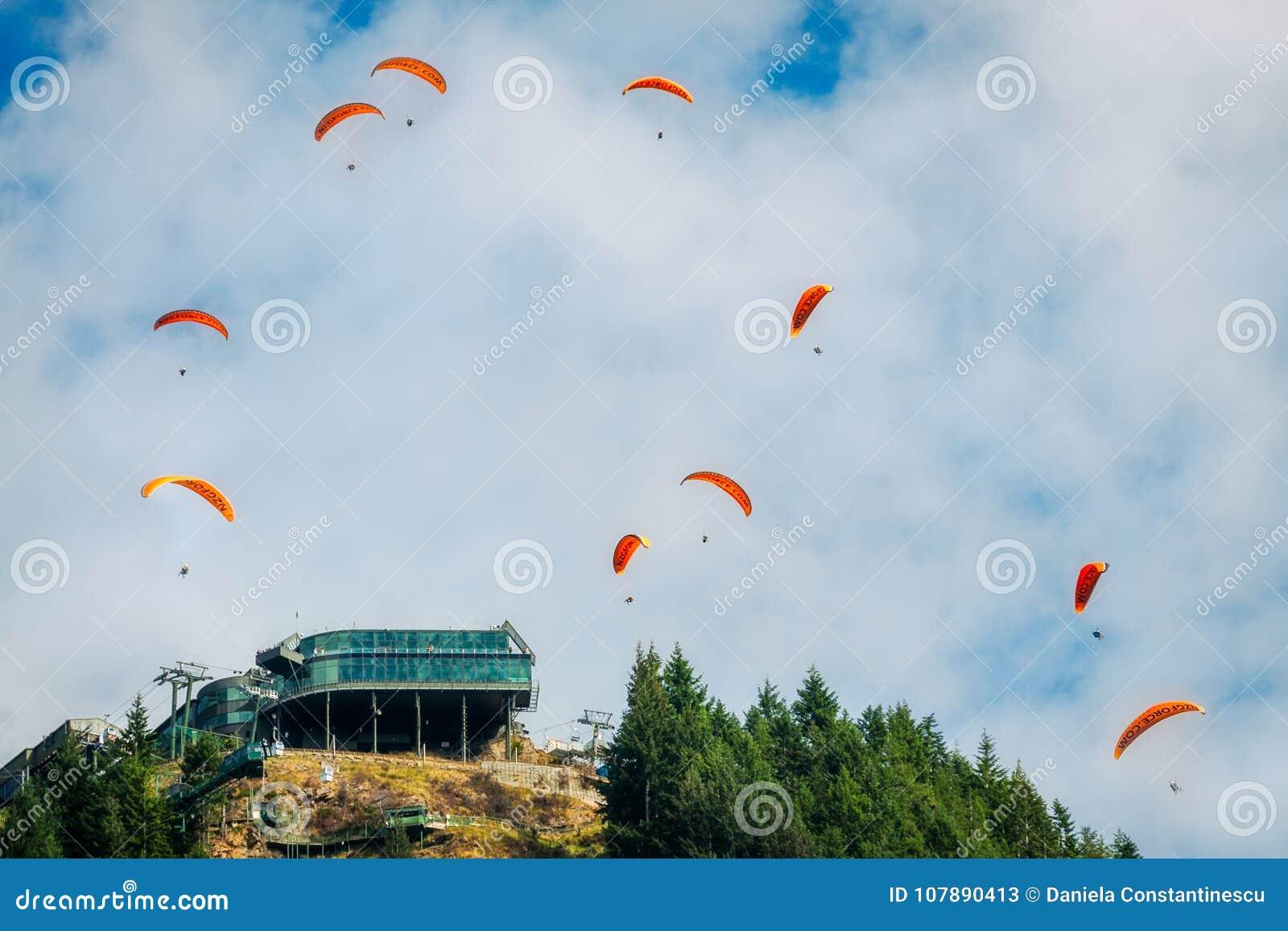 Paragliding at Queenstown Skyline, New Zealand
