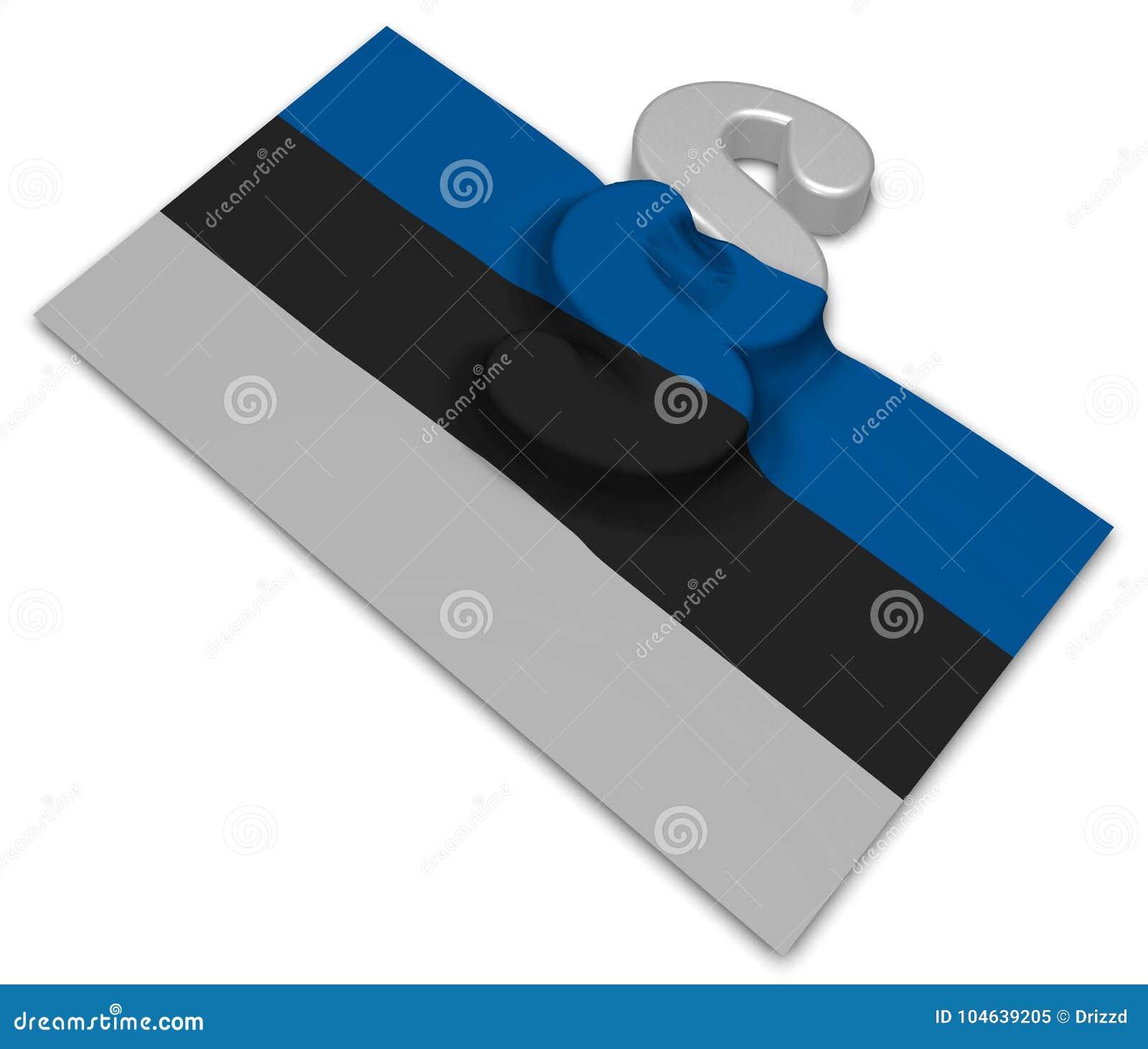 Download Paragraafsymbool En Vlag Van Estland Stock Illustratie - Illustratie bestaande uit orde, rechtvaardigheid: 104639205