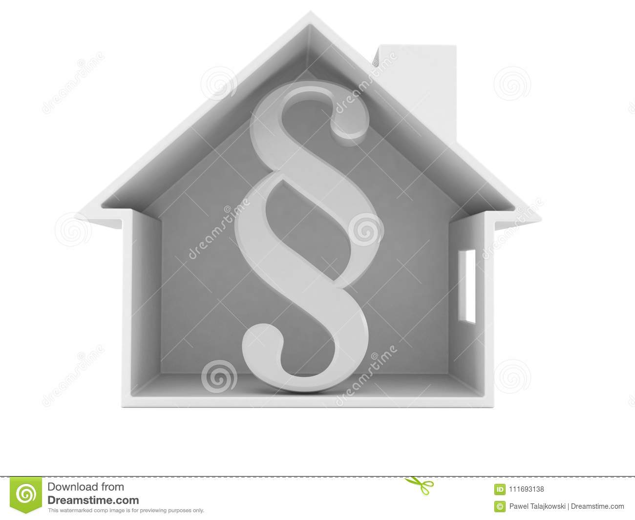 Paragraph symbol inside house cross section stock illustration paragraph symbol inside house cross section buycottarizona Choice Image