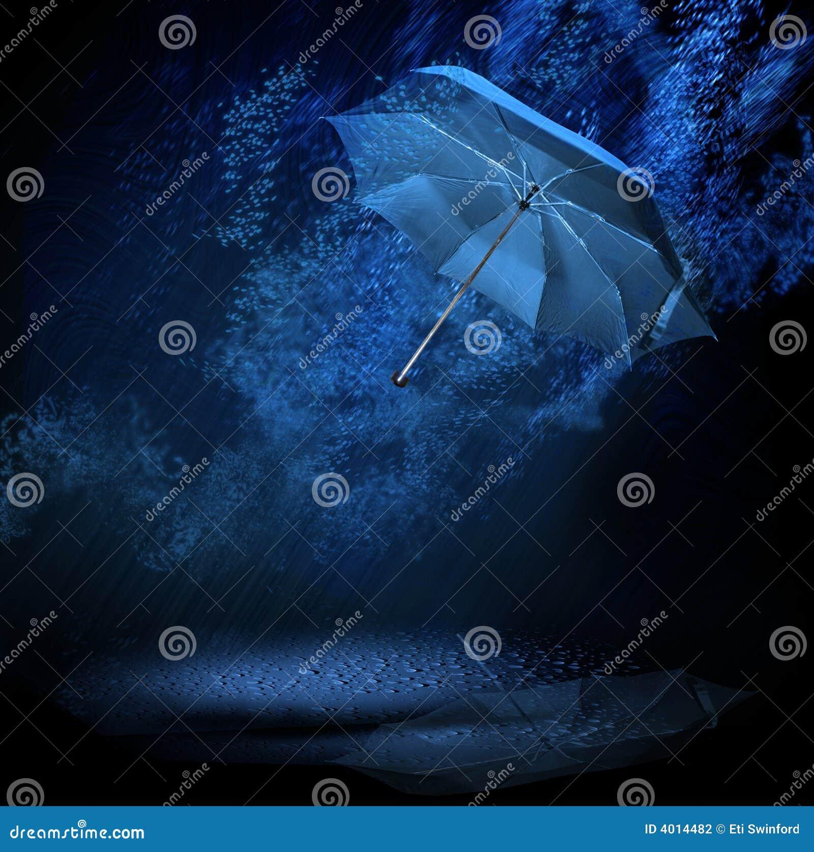 Paraguas en lluvia