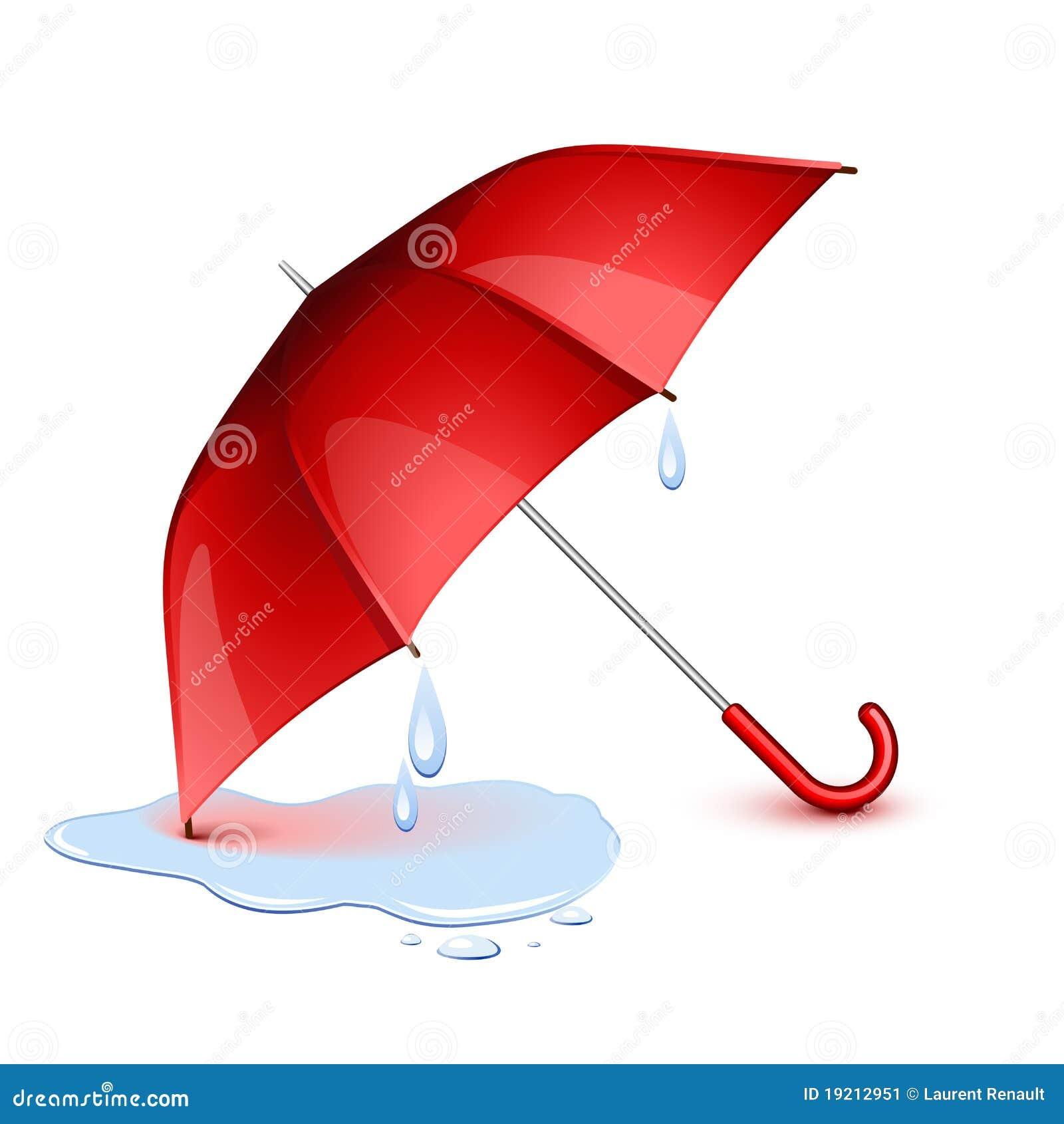 Paraguas mojado