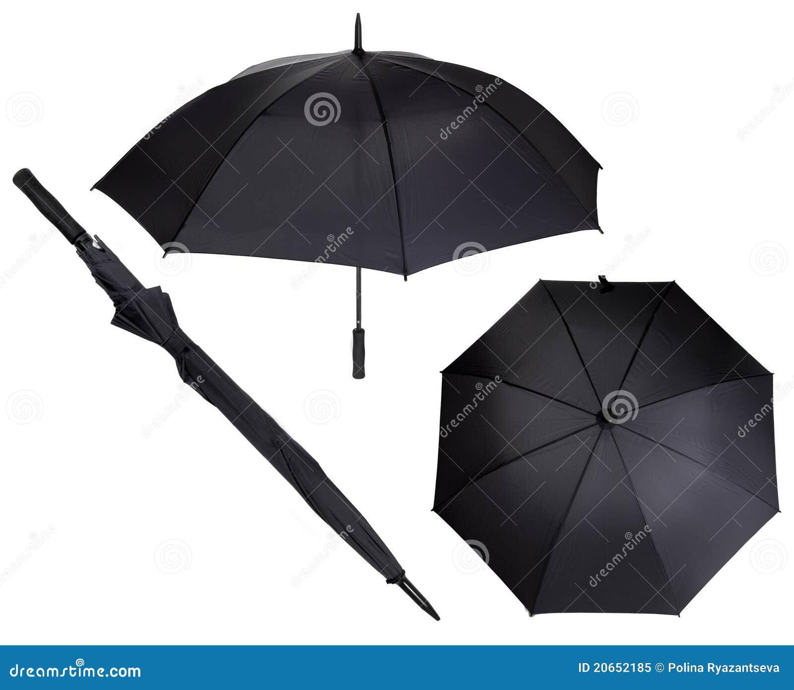 encontrar mano de obra mejor lugar para disfruta del precio inferior Paraguas negro grande imagen de archivo. Imagen de blindaje ...
