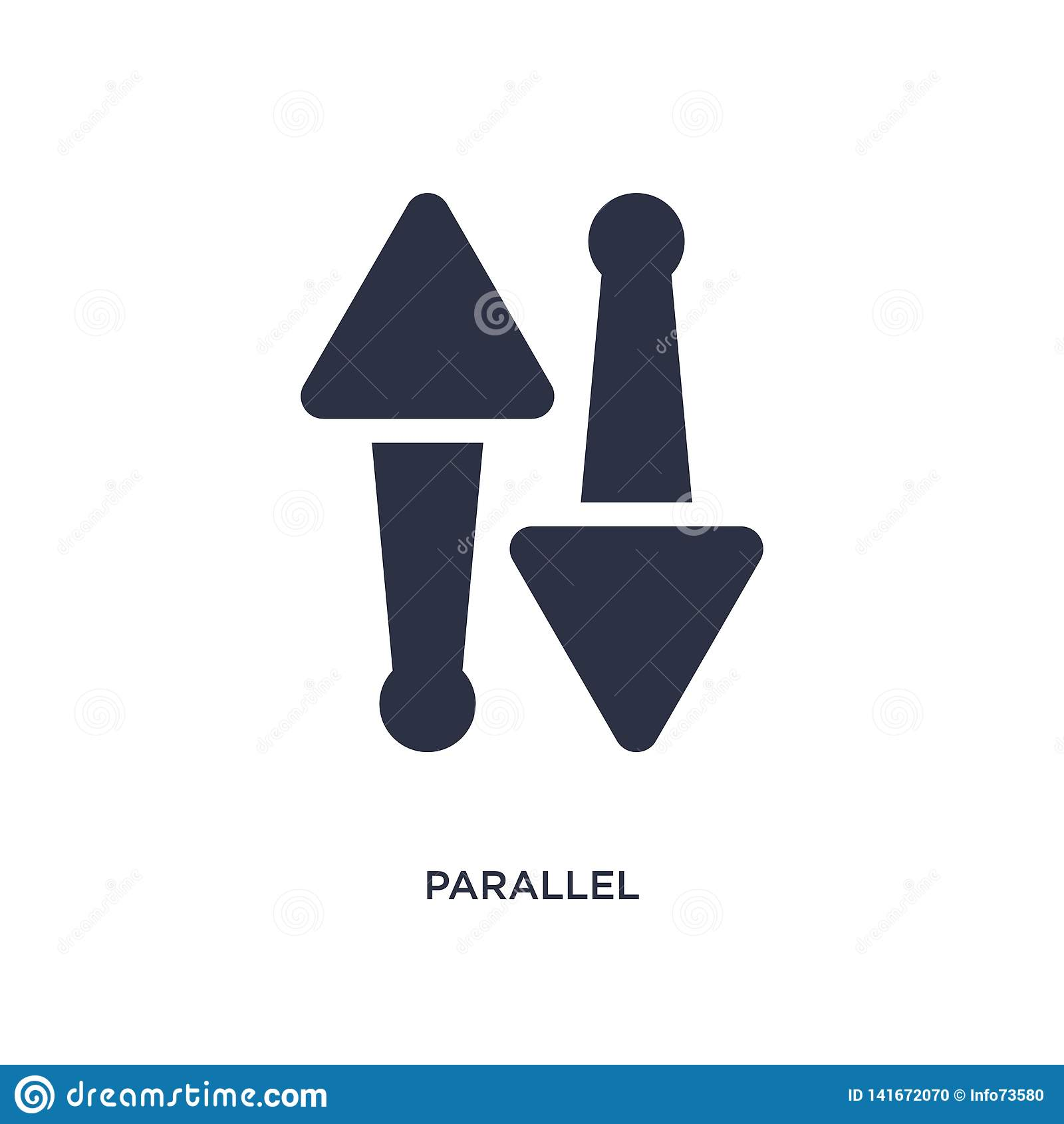 parallel icon on white background. Simple element illustration from geometry concept