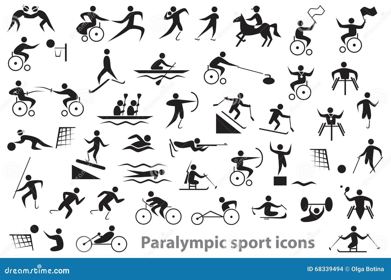 Paralympic sporta ikony