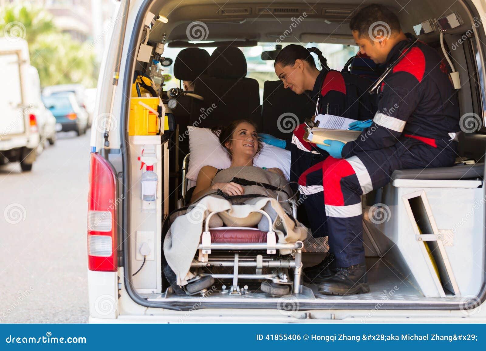 Paramedic patient ambulance