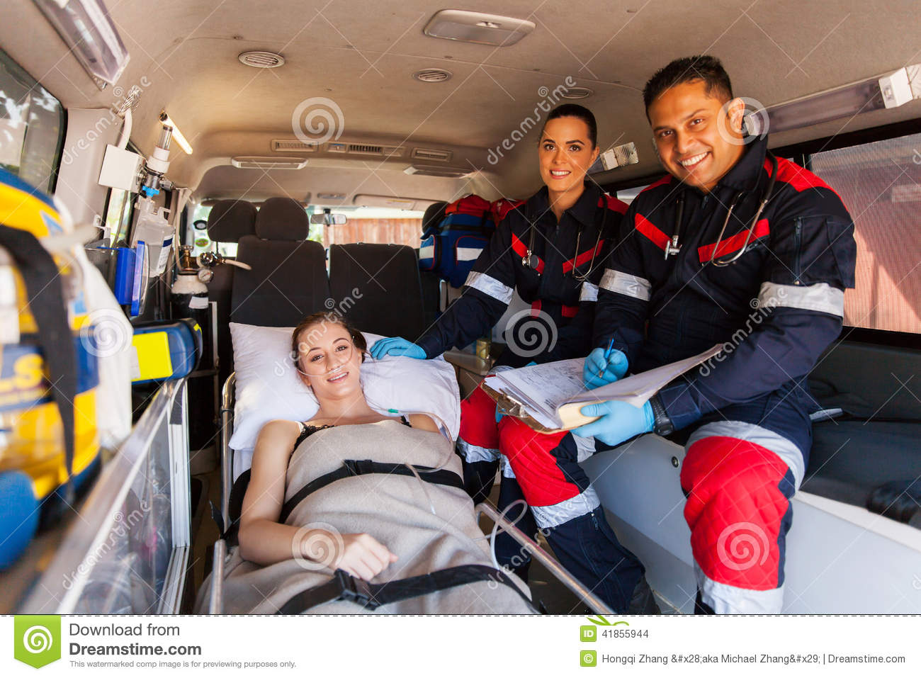 Paramedic Team Patient Stock Photo - Image: 41855944
