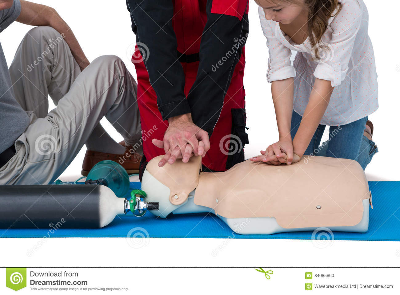 Download Paramedic Training Cardiopulmonary Resuscitation To Girl Stock Photo - Image of heart, paramedical: 84085660