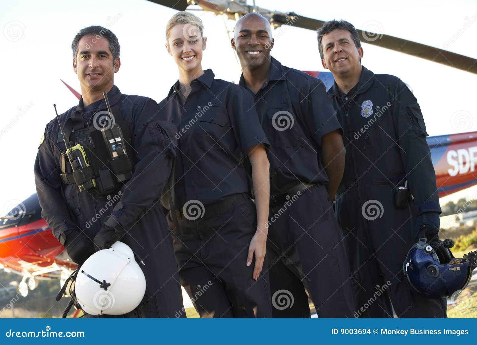 Paramedici en Bemanning voor Helikopter